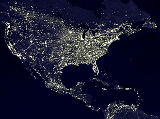 The United States at night: Few dark places remain.